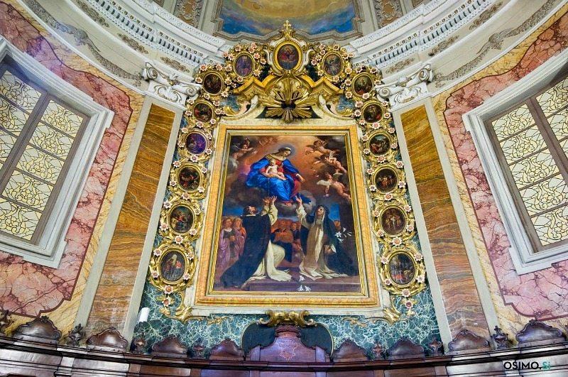 Pala del Guercino all'interno della Chiesa di San Marco