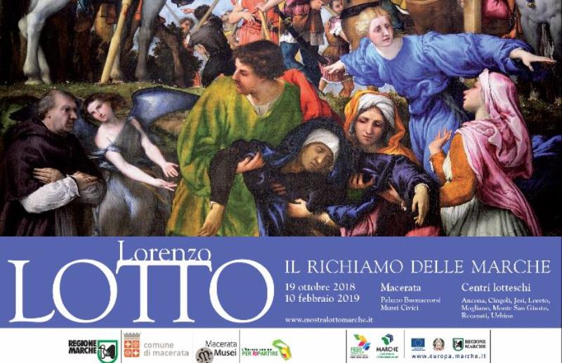 Locandina della mostra di Lorenzo Lotto nelle Marche