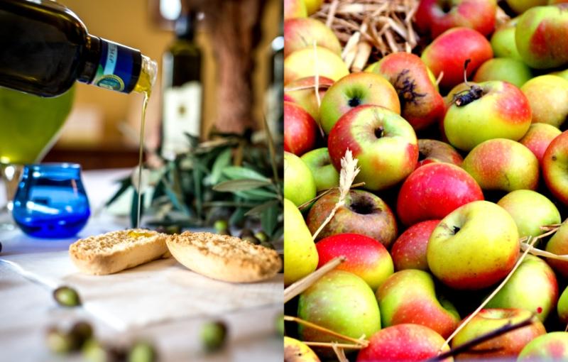 olio di Cartoceto e mela rosa dei Monti Sibillini