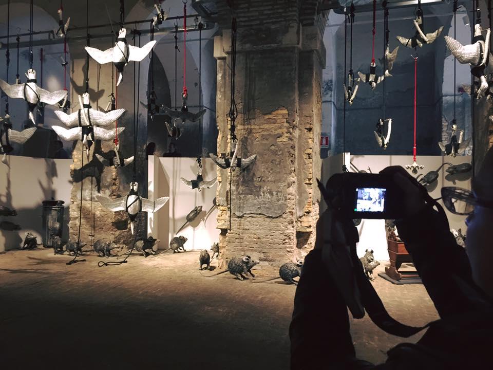 """L'installazione ambientale di Valeriano Trubbiani """"Ractus, ractus"""" e """"Le morte stagioni"""""""