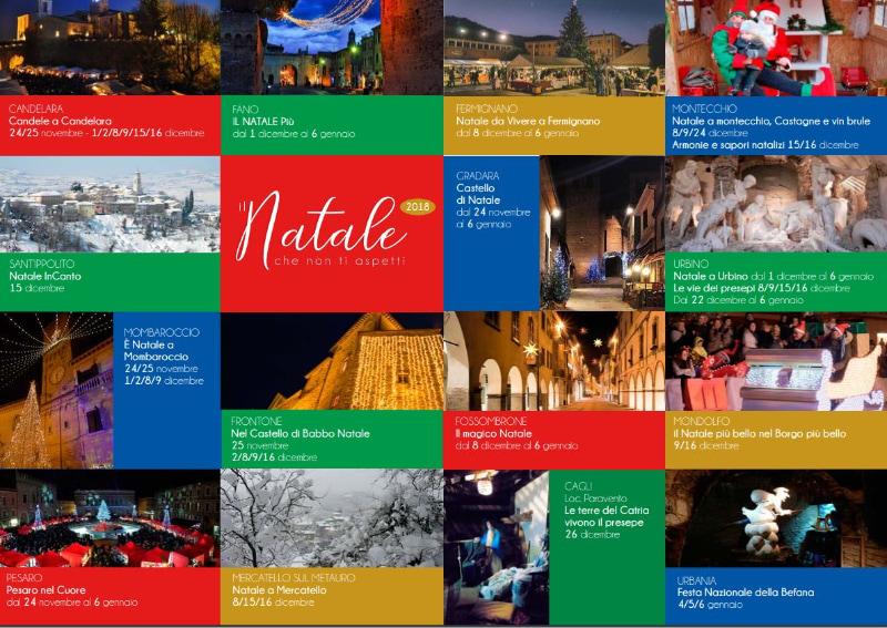 Locandina iniziativa Natale che non tiu aspetti della provincia di Pesaro Urbino
