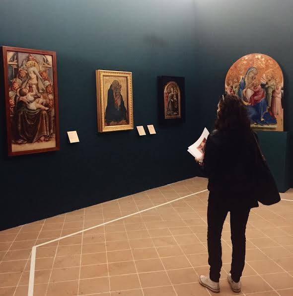 Una sala della mostra Maria Mater Misericordiae a Senigallia