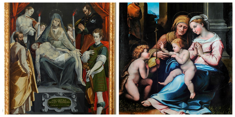 L'opera di Simone De Magistris e la copia di Raffaello