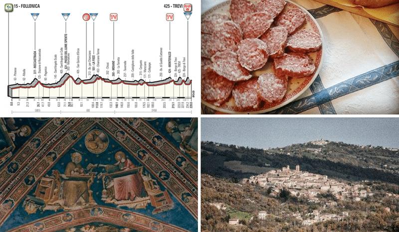 Il percorso ciclistico, il ciauscolo, Sarnano e il Cappellone di San Nicola