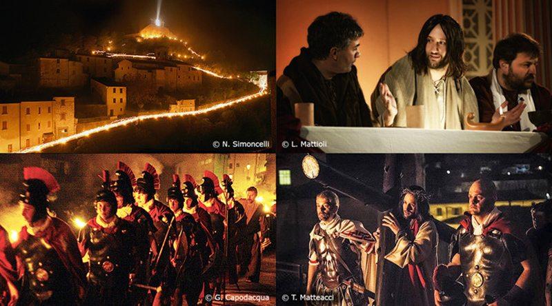 Alcune immagini delle precedenti edizioni della Turba di Cantiano