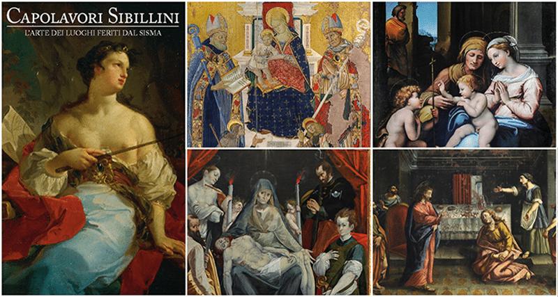 Alcune delle opere presenti nella mostra Capolavori dei Sibillini