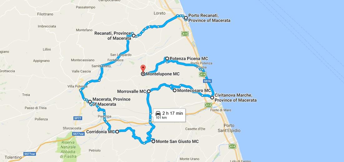 Itinerario numero uno