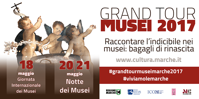 Cartolina del Grand Tour Musei Marche
