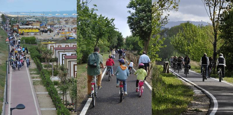 Le piste cicabili di Pesaro, imerse tra mare e natura