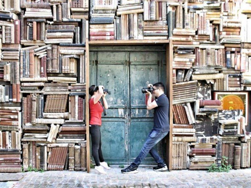 Photowalk Pesaro: due fotografi che si fotografano a vicenda