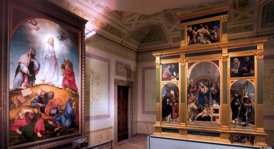 La Pinacoteca Civica all'interno della Villa Colloredo Mels, Recanati
