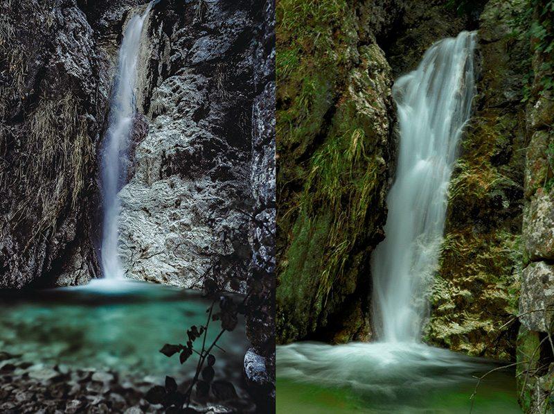 La cascata Val d'Abisso (Foto © Wilson Santinelli e © Michela Ricci)
