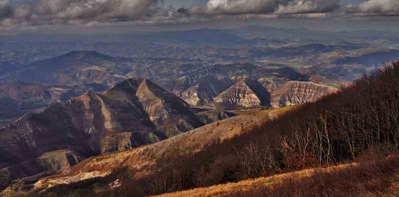Panorama autunnale dal Monte Nerone