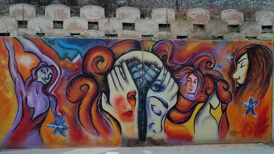 Il murale di Elisa Rosicarello a Porto Sant'Elpidio