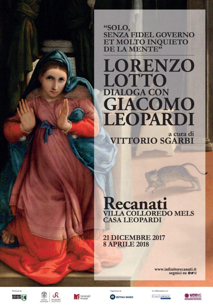 Lorenzo Lotto dialoga con Giacomo Leopardi - locandina mostra Recanati - Lorenzo Lotto dialoga con Giacomo Leopardi - locandina mostra Recanati