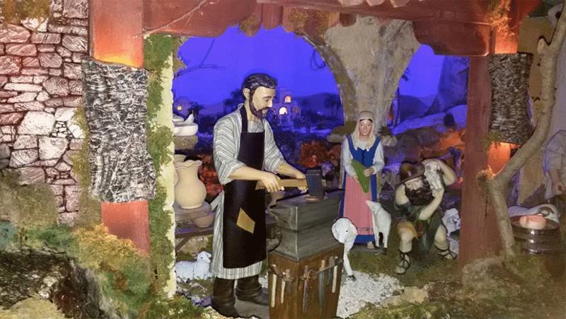 Il presepe di Loreto (Foto tratta dalla pagina Facebook Presepe Artistico Meccanico Permanente Benedetto XVI)