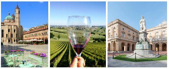 Le Marche: Ascoli Piceno, Vino Rosso e Recanati