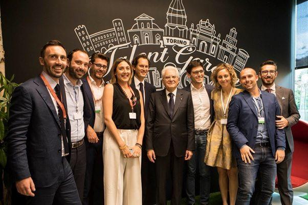 Simona Ciccalè -Inaugurazione Talent Garden Torino con il Presidente Mattarella e John Elkann