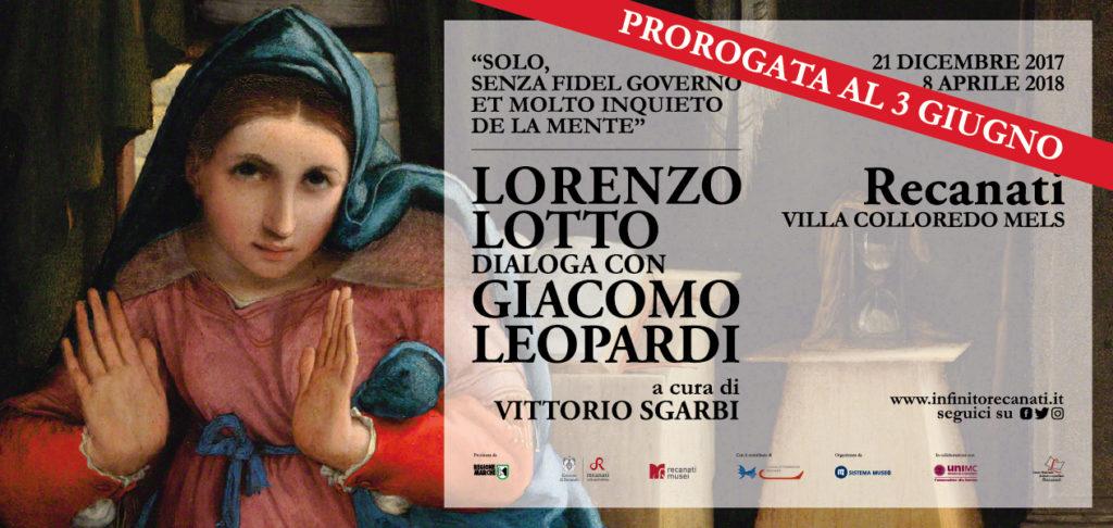 Fra gli eventi di maggio nelle Marche: Lorenzo Lotto dialoga con Giacomo Leopardi: mostra prorogata a Recanati fino al 3 giugno.