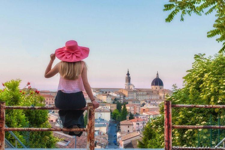 #loretophotowalk: vista panoramica della città di Loreto