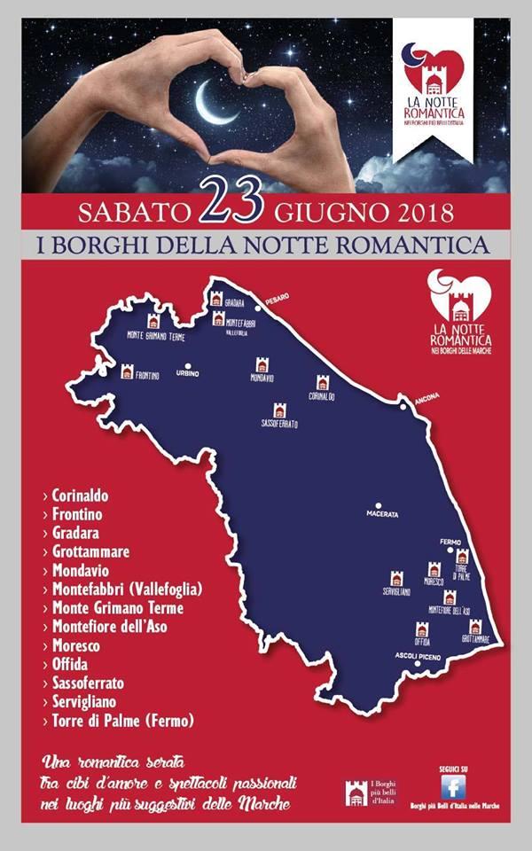Notte Romantica 2018 - Borghi più belli Marche