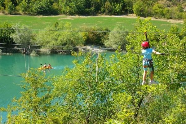 Parco avventuta lago di Fiastra - Marche