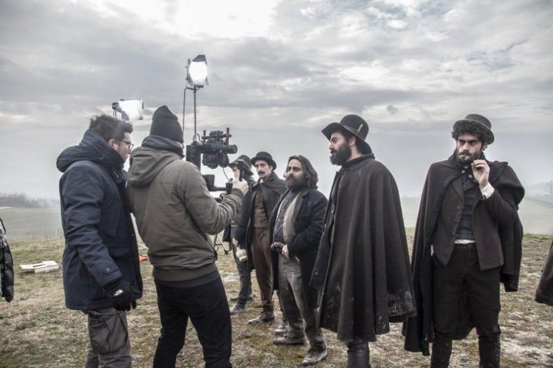 Scena di bakstage del film La Banda Grossi