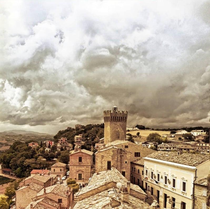 La vista di Moresco dal campanile