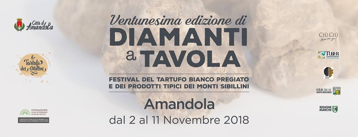 Locandina del Festival Diamanti a Tavola di Amandola