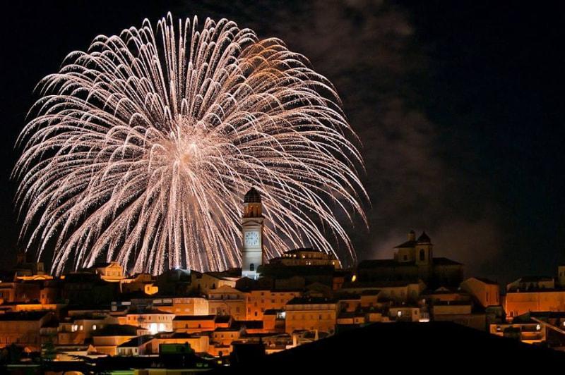 Fuochi d'artificio a Macerata
