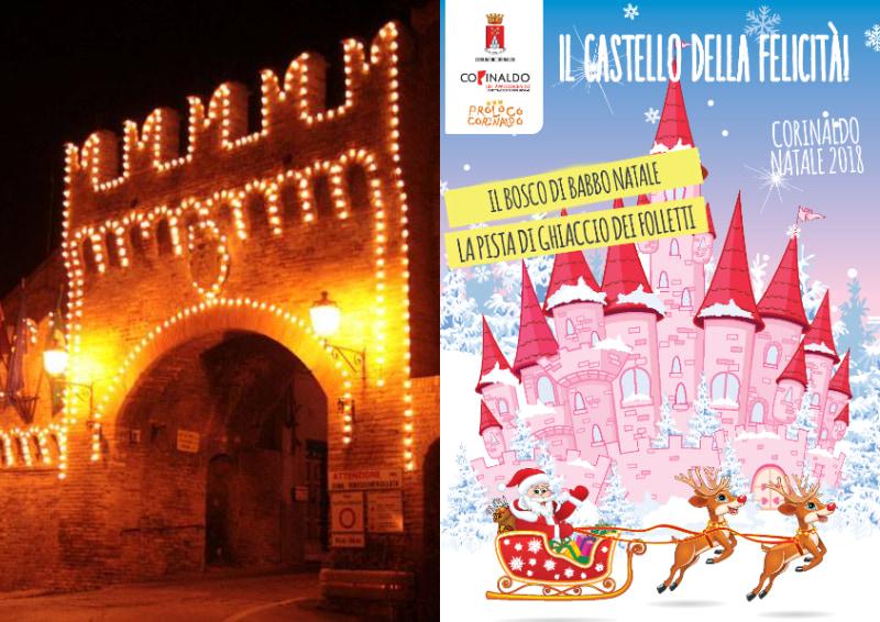 Collage locandina di Natale e foto del Castello