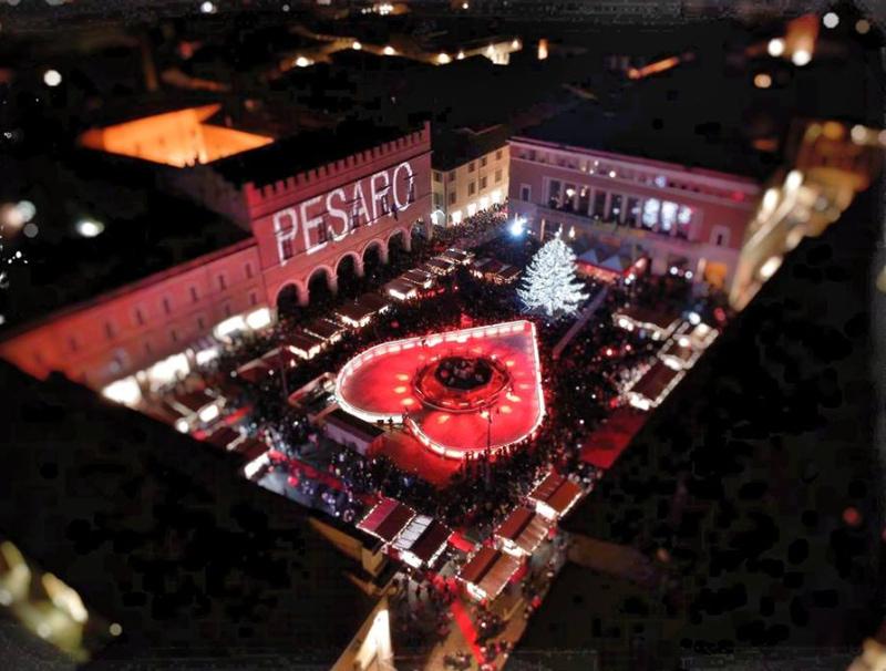 Veduta delle feste di Natale dall'alto