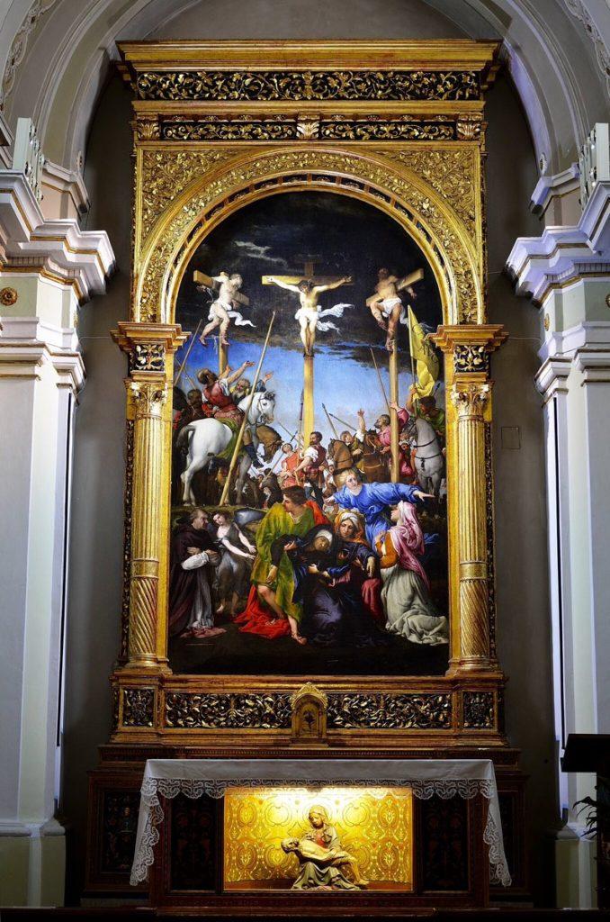 Crocifissione di Lorenzo Lotto a Monte San Giusto