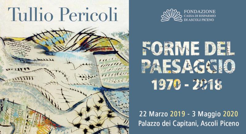 """Locandina Mostra """"Forme del Paesaggio"""" di Tullio Pericoli ad Ascoli Piceno"""