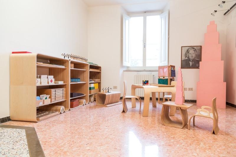 Interno della casa natale di Maria Montessori a Chiaravalle