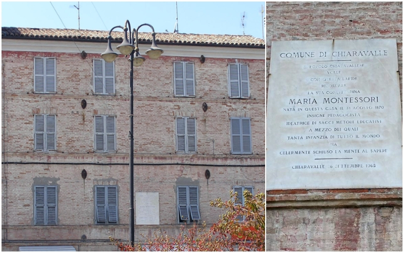Casa natale di Maria Montessori a Chiaravalle