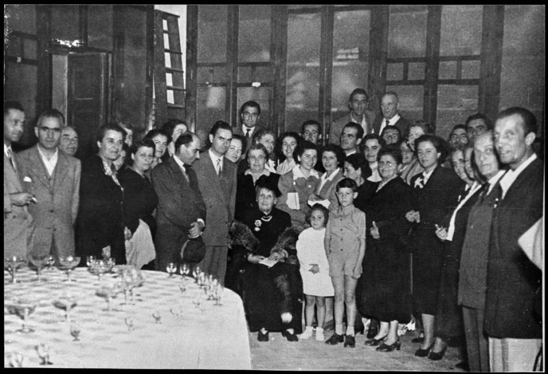 Maria Montessori in visita a Chiaravalle nel 1950