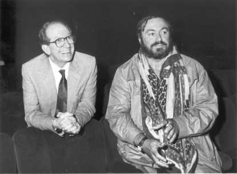 Carlo Perucci con Pavarotti