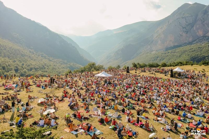 concerto di Risorgimarche 2018 in mezzo alla natura