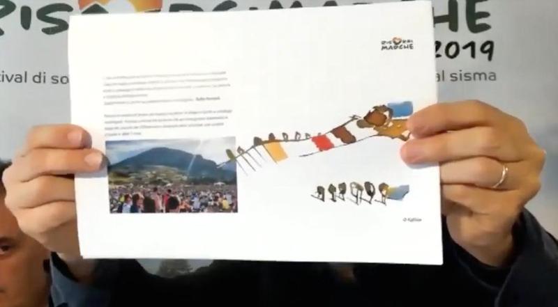 le opere di Tullio Pericoli nel merchadising di RisorgiMarche