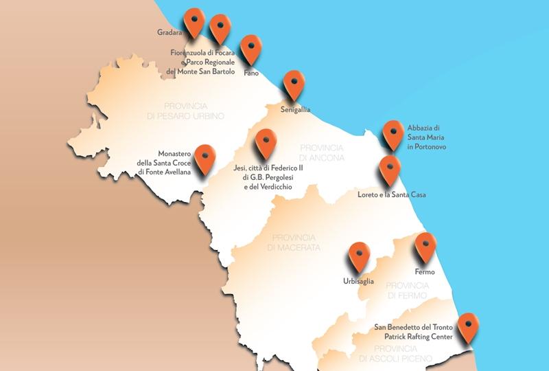 Cartina Politica Regione Marche.I Luoghi Di Dante Nelle Marche Sulle Orme Del Sommo Poeta